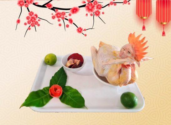 Mua gà cúng ngon ở Hoa Gạo Food